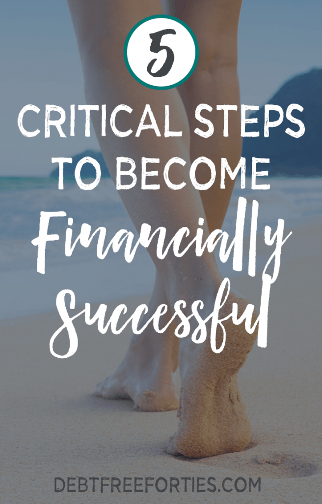 These five steps are critical to becoming financially successful. Learn to organize your debt and finances! #debt #finances #financiallysuccessful
