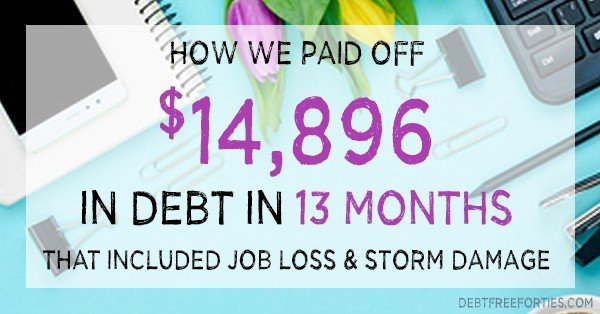 we paid off $7,482 of debt in 7 months with this budget workbook