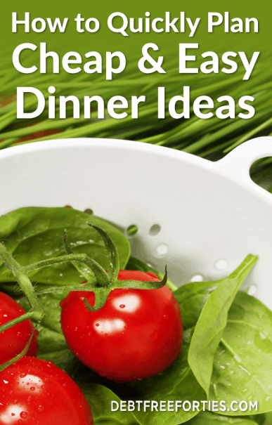 Food budgets can be the hardest to stay on track with. By planning cheap and easy dinner ideas, you'll save a ton of money, time and sanity. #easydinnerideas #foodbudget #budgeting #mealplanning