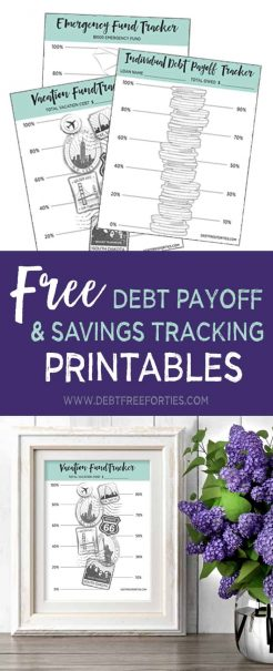 Free Debt Tracker Printables to track your repayment progress #debt #debtrepayment #finances #printables