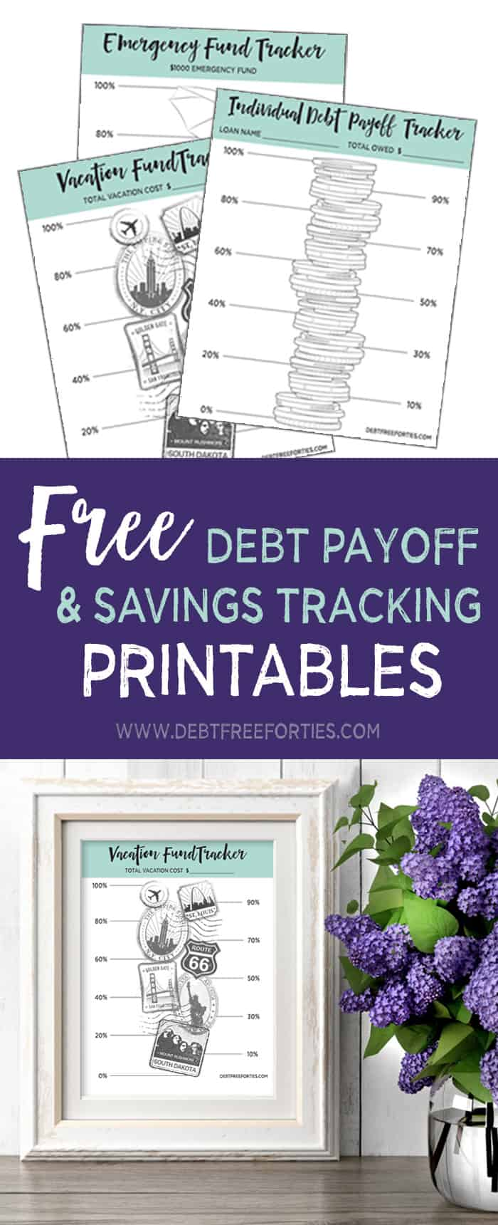 Free Debt Repayment Printables to track your repayment progress #debt #debtrepayment #finances #printables