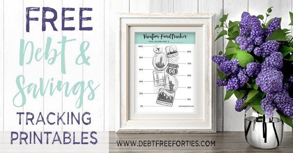 Free debt and savings tracking printables