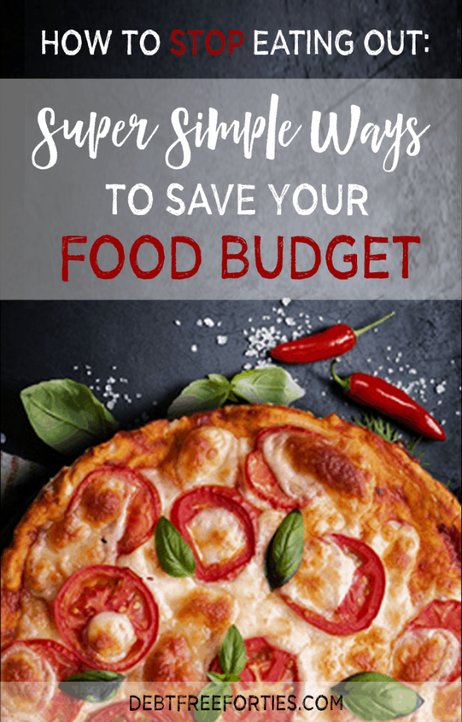 It's so easy to fall into the trap of grabbing takeout, but it kills your food budget. Here are some super simple ways to save your food budget and avoid eating take out. #foodbudget #budgeting