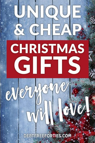 It takes a bit of creativity to find cheap Christmas gifts that fit into your budget. With some planning you can easily find something they'll love! #christmas #gifts #frugal #budgeting