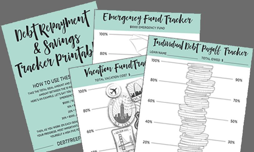 debt and savings tracker printables