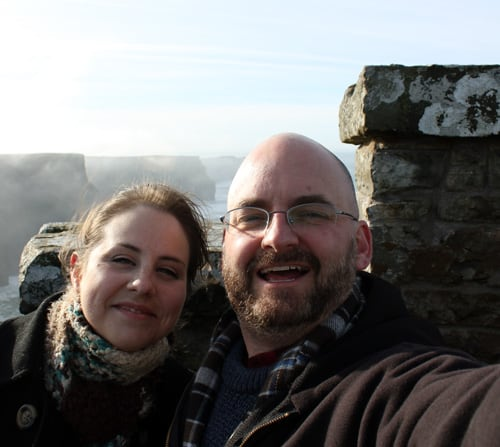 My husband and I, on our debt payoff journey and honeymoon