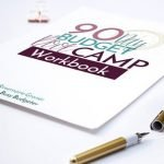 The 90 Day Budget Bootcamp workbook printed