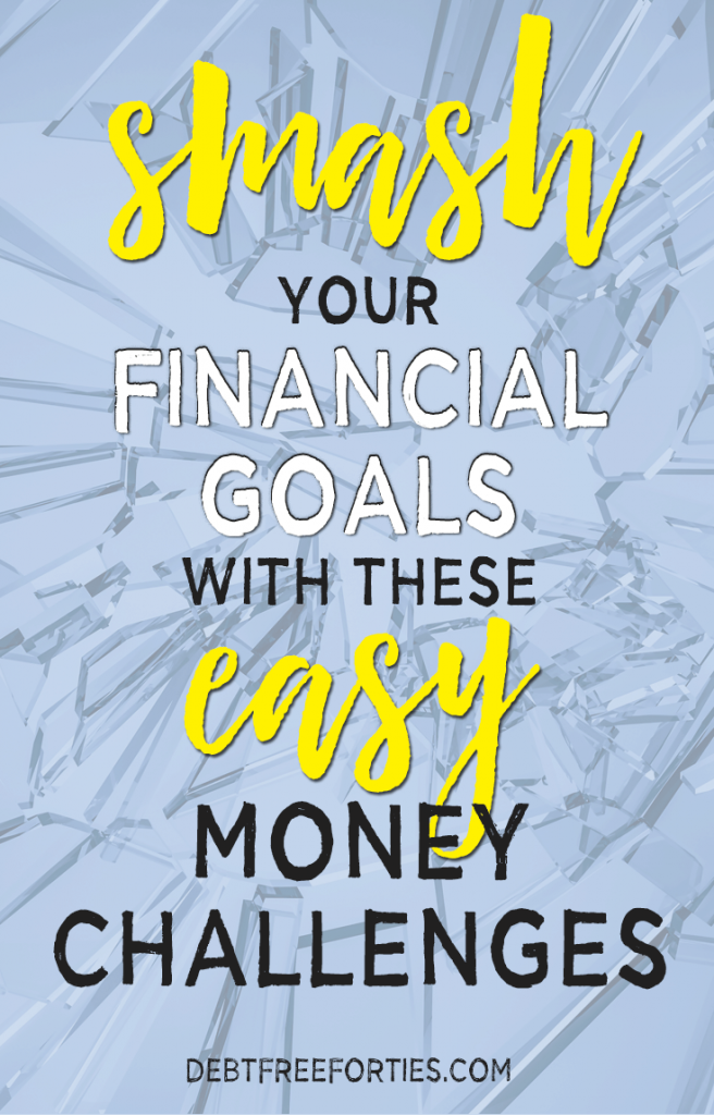 smash your financial goals with these easy money challenges! #moneychallenge #finances #financialgoals
