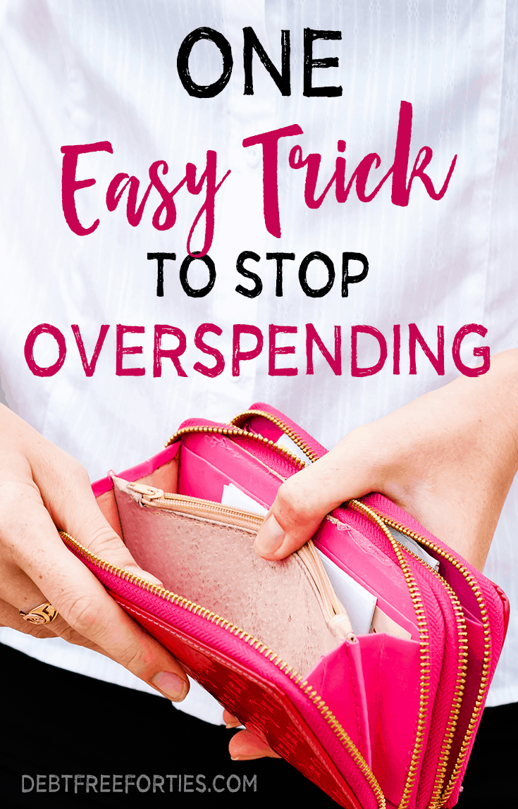 One easy trick to stop overspending #overspending #finances #budgeting #frugal