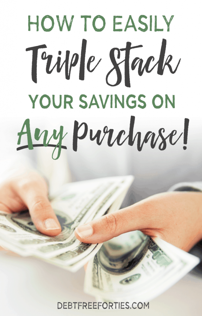 Sometimes shopping with the sales and coupons just isn't enough. And there are plenty of things that are difficult or impossible to get at a discount. This is how you can easily triple stack your savings on ANY purchase! #savings #couponing #budget