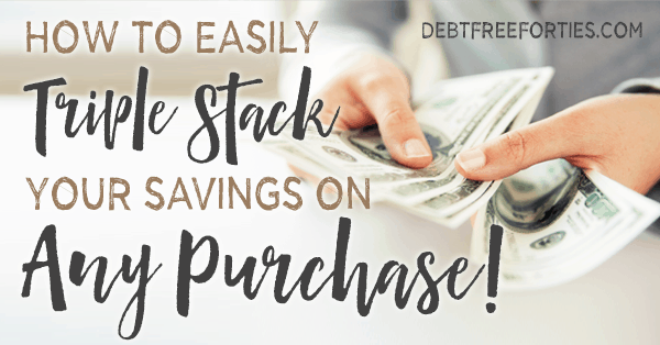 How to Triple Stack your Savings on ANY Purchase! #savings #holidaysavings #shopping