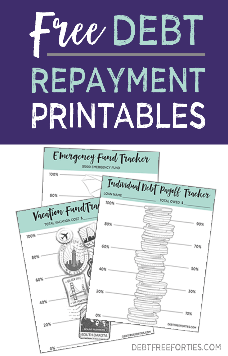 Free debt repayment printables #debt #printable #debtfree
