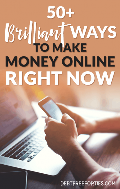 Living paycheck to paycheck is stressful and exhausting. Here are 50+ brilliant ways to make money online right now and get out of debt! #debt #sidehustle #workfromhome #makemoney