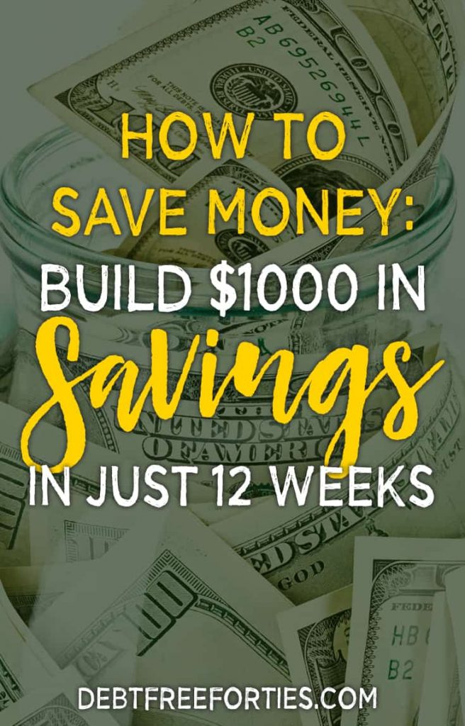 Struggling to save money? Try a money saving challenge and grab these free money savings challenge printables. Get your $1000 savings built in just 12 weeks! #savings #emergencyfund #savemoney #moneysavingchallenge