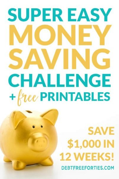 Want to try a $1000 savings challenge? Learn how to save $1000 in just 12 weeks with these free, printable worksheets! #money #savings #savingmoney #personalfinance
