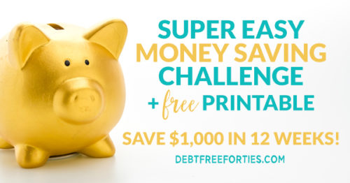 Super easy money saving challenge + free printable