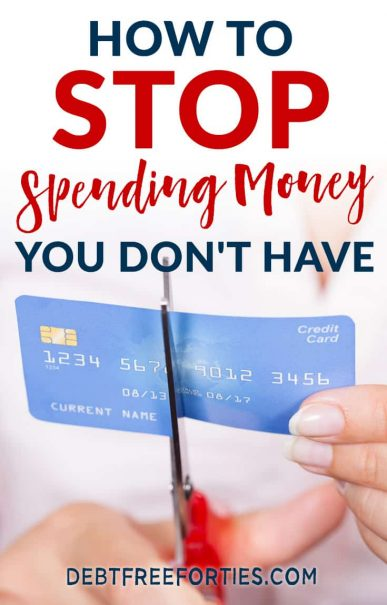 Struggling to not blow your paycheck in one weekend? Learn about the best hacks to stop spending money you don't have! #debt #stopspendingmoney #finance #money