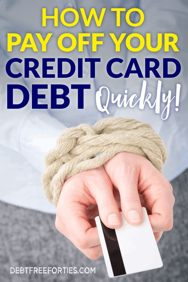 Not sure how to pay off credit card quickly? Here's the scoop on how to conquer your debt and get those credit cards paid off for good! #debt #finance #debtfree