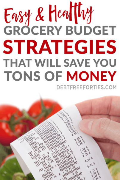 Struggling to balance your grocery budget with eating healthy? Learn the best grocery budget strategies to help you save a ton of money. #frugal #budget #mealprep