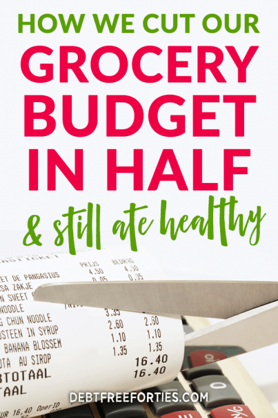 Struggling to balance your grocery budget with eating healthy? Learn the best grocery budget strategies that helped us to cut our grocery budget in half and still eat healthy. #frugal #budget #mealprep
