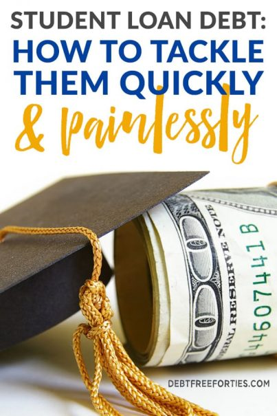 Anyone with student loan debt will tell you just how tiring, worrisome and stressful it can be. It's easy to panic or avoid them altogether. But really, the best (and only) way to deal with them is like ripping a band-aid off - you just have to get a firm grip and face them head on. Besides having a budget, it's important to have a plan of attack. Use these tips to find the best way to tackle those student loans once and for all! #studentloandebt #studentloans #debt #debtpayoff