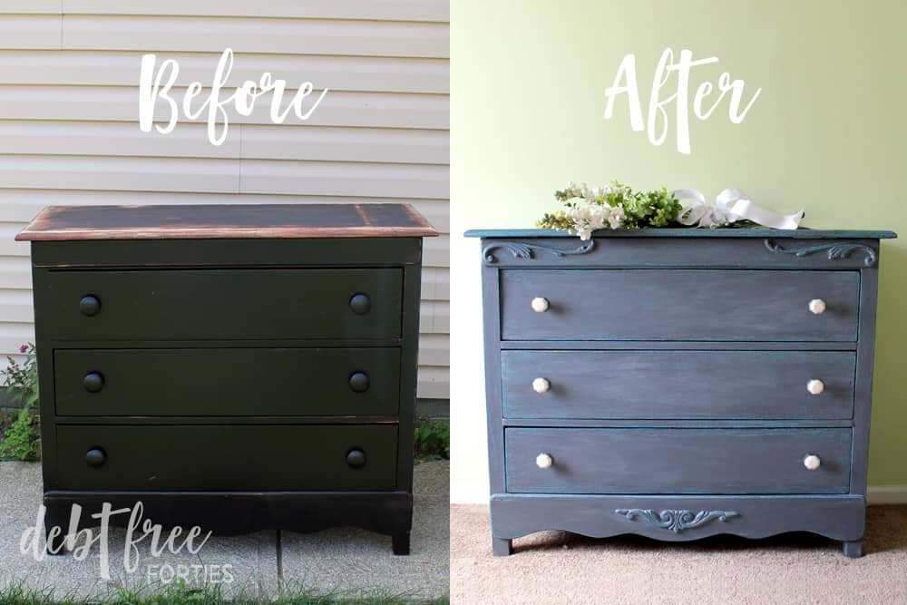 Before And After Of Chalk Paint Furniture