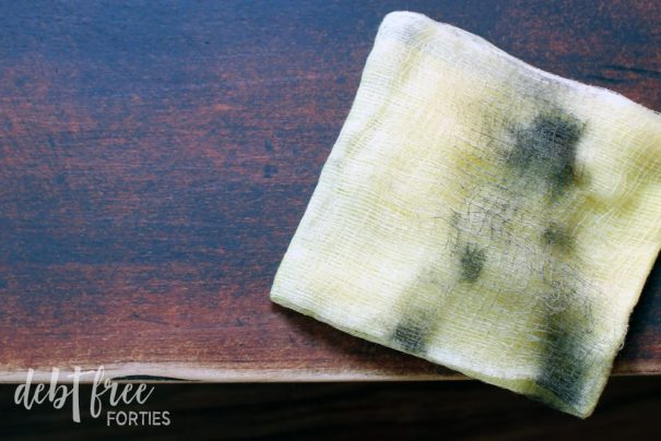 Use a tack cloth to clean up your furniture before painting with chalk paint.
