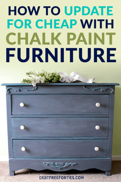 It's easy to do home decor updates within your budget when you try chalk paint. Chalk paint furniture is an easy, fun and inexpensive way to update a room without spending a fortune. #budget #homedecor #cheaphomedecor #diy