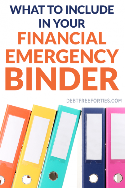 Group of colorful binders