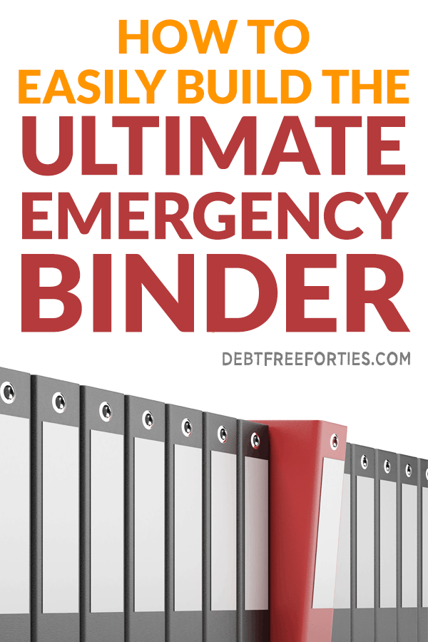 Creating an emergency binder is important for your family and finances. Without one, would you family know how to pay bills in an emergency? Get this step-by-step instruction on how to start building an emergency binder. #emergency #personalfinance #family