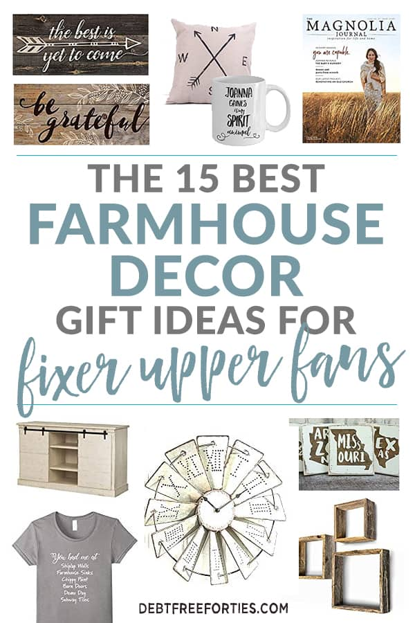 The 15 best farmhouse decor gift ideas for fixer upper fans