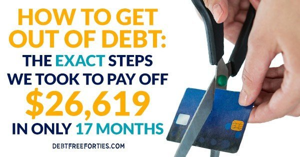 How to get out of debt: the exact steps we took to pay off $26,619 in 17 months