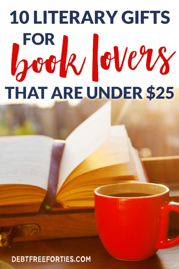 Literary gifts for book lovers that are under $25 #giftguide #frugal #budget #gifts #books
