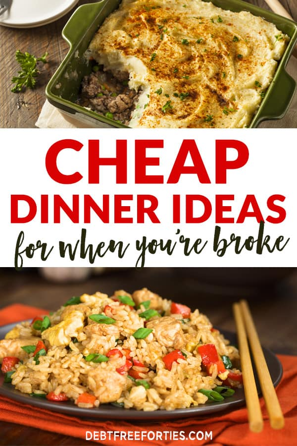 These cheap dinner ideas will help you create super quick, budget-friendly meals that can be whipped together in 30 minutes or less! #dinnerideas #budgetcooking #cheapdinnerideas #dinnerrecipes