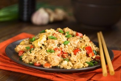 Chicken fried rice is an easy chicken dish that is cheap and quick to make