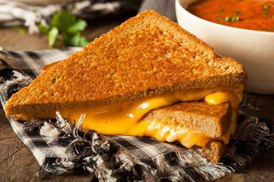 A cheap easy dinner idea that kids will love is grilled cheese and soup