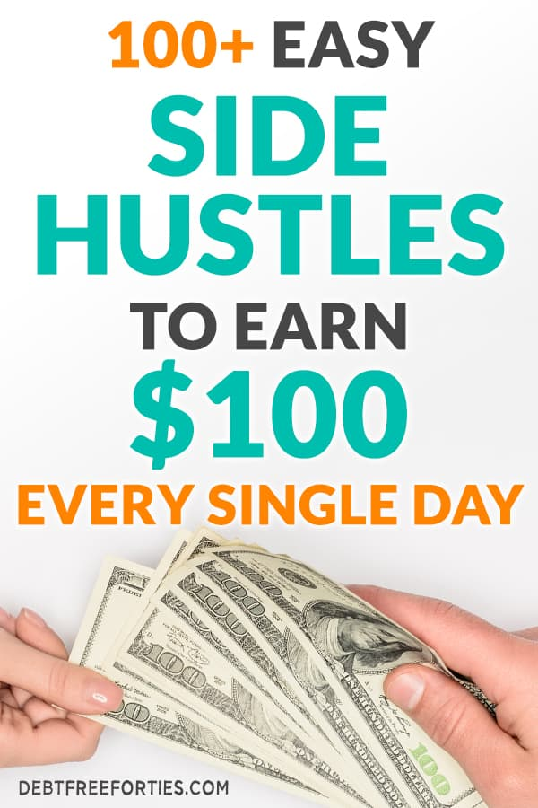 Looking to make some extra money? Learn how to make $100 a day with one of these side hustle ideas to make money and start earning today! #sidehustle #makemoney #finances
