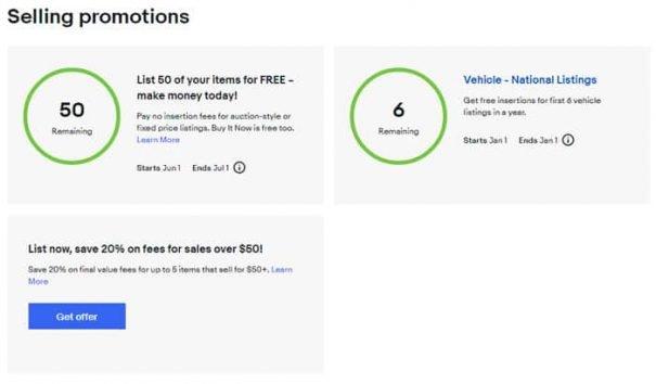 eBay promotions