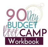 90 Day Budget Bootcamp Workbook logo