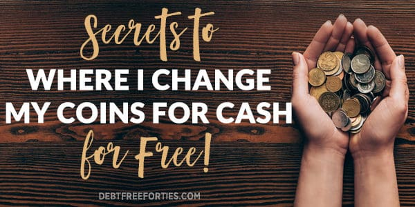 Secrets to where I change coins for cash - for free! Hands holding coins