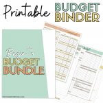 Screenshots of printable budget binder