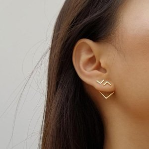 minimalist earrings from GoldenSpoonJewelry