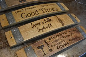 home decor made from wine barrels