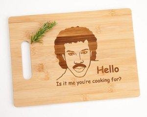 bamboo cutting board with saying